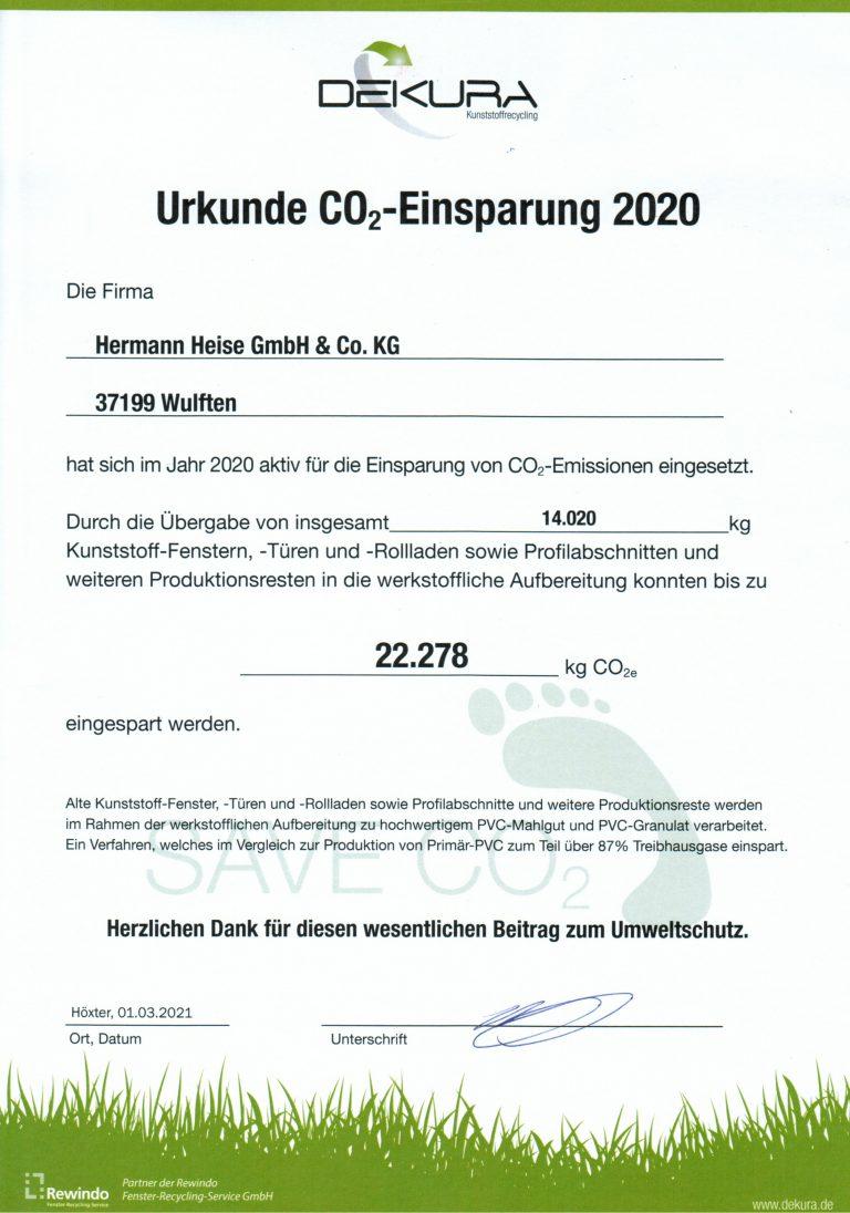 Urkunde 2020 Publicity